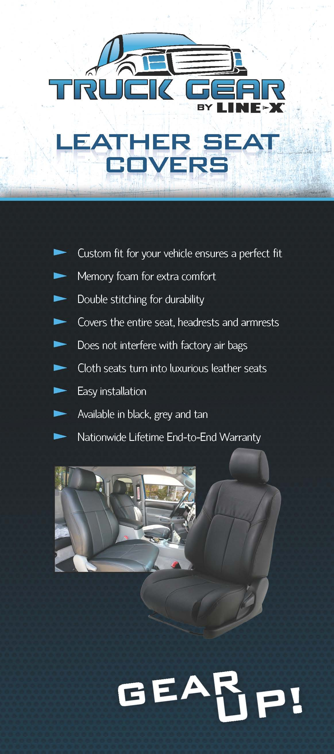 Leather Seat Cover - Fredericksburg Line-X